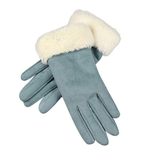 Touchscreen Wildleder Mädchen Leder warm Plus Samt Reithandschuhe, Malloom Mode Frauen Nachahmung PU Leder Handschuhe Herbst Winter Warme Pelz Fäustlinge