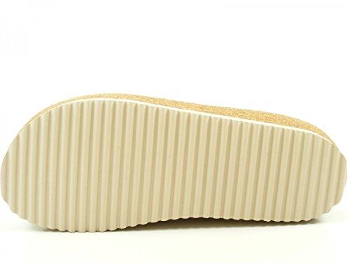 Haflinger 818070 Travel-Clog Neo Metallic Schuhe Damen Pantoletten Clogs Leder Silber