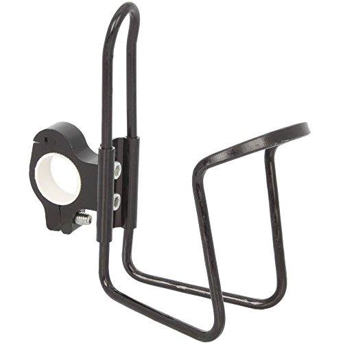 Legierung Wasser Cup Flasche Rack Halter Käfig mit Adapter für Motorrad Fahrrad ATV Bike schwarz