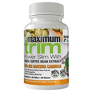 MOST EFFECTIVE FORMULATION MAXIMUMTRIM GARCINIA CAMBOGIA With GREEN COFFEE BEAN EXTRACT All Natural WEIGHT LOSS, APPETITE SUPPRESSANT & FAT BURNER.- MONTH SUPPLY