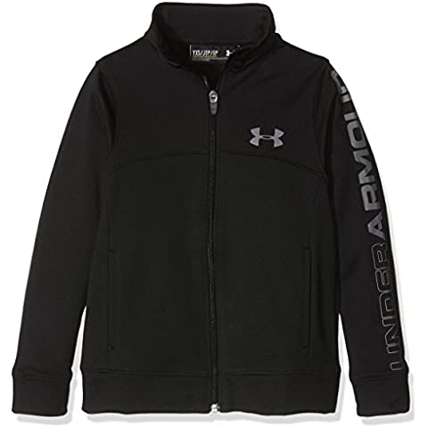 Pennant Under Armour-Giacca con zip da ragazzo, colore: nero, taglia: