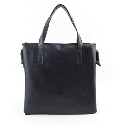 Handtasche Damen Btruely Frau Mode Schulter Tasche Groß Tote Damen Geldbörse (Eins Größe, Schwarz) (Gold-große Tote)