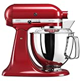 KitchenAid Artisan 5KSM175PS Robot de cocina (4,8 L, Rojo, palanca, 220 RPM, Acero...