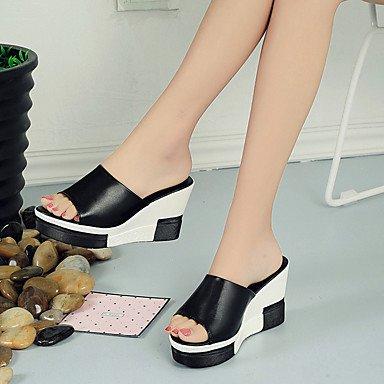 Scarpe Donna FYZSStile della Corea donne di pantofole e infradito Scarpe Primavera Estate Club Comfort tutto il fiammifero flangia di moda US8.5 / EU39 / UK6.5 / CN40