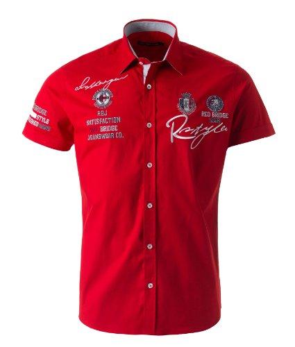RBC Redbridge Herren Freizeit Kurzarmhemd Rot