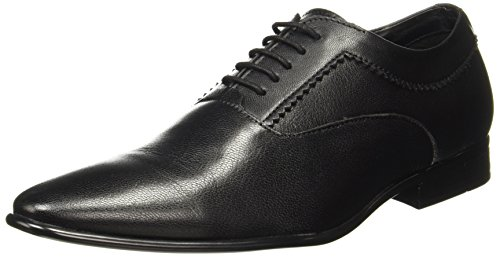 BATA Men's Twain Black Leather Formal Shoes
