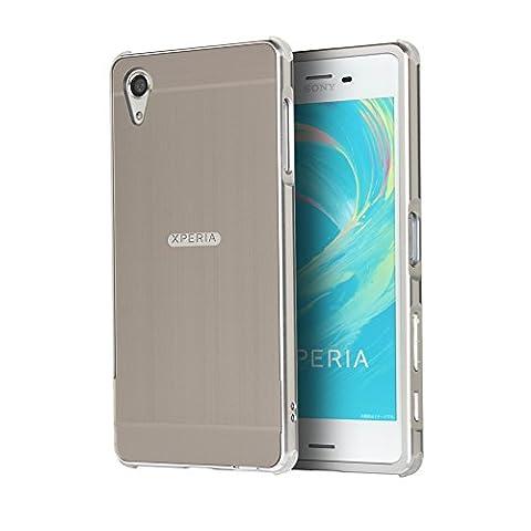 Coque Xperia XA, Etui en premium Aluminium métal miroir, Btduck