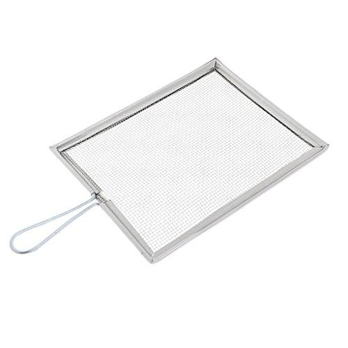 MagiDeal Spritzschutz Spritzsieb aus Metall Spritzschutzdeckel für Malen Spritzschutzsieb - Quadrat