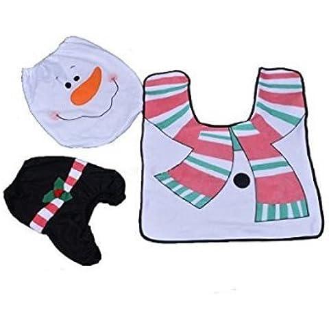 moorejieka Natale pupazzo di neve WC, ottomani serbatoio acqua–Set di asciugamani di carta