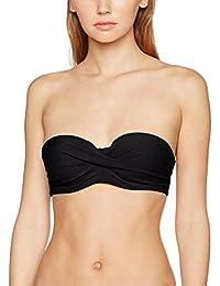 Calvin Klein Front Twist Structured Bandeau, Parte De Arriba De Bikini Para Mujer