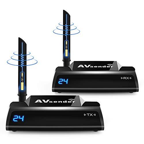 Ai LIFE 5,8 GHz HDMI TV Wireless Audio Video Sender und Empfänger IR-Fernbedienung 300M (985ft) AV-Sender für DVD, PS3, PS4, Roku, Laptop 5.8 Ghz Audio Video Sender