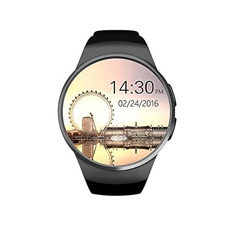 SMART Santé montre bracelet en acier inoxydable classique montre intelligente extérieur Course à Pied Marche Smartwatch podomètre moniteur de sommeil moniteur de fréquence cardiaque support smartphone Android
