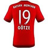 adidas FC Bayern Götze Trikot Home 2016 rot 176