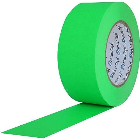 ProTapes 840178006608 Artist-Risma di carta, retro piatto/Console yd. 60-Nastro lunghezza x larghezza 5,08 (2 cm, colore: verde fluorescente - Console Nastro