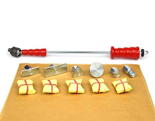 Zughammer Gleithammer mit Kaltkleber Cola Fria zum Dellen entfernen, Dellenreparatur, Ausbeulwerkzeug, Dellenwerkzeug - Wellen Flachen Rand