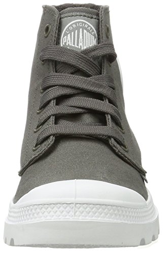 Palladium Blanc Hi, Sneakers Basses Mixte Adulte Gris (Metal/white/white)