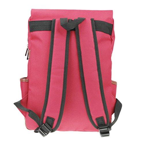 Liying Neu Größ Retro Canvas Rucksack Vintage Rucksack Schulrucksake Handtaschen Backpack Rucksack für Reisen Computer Outdoor Camping Picknick Sports Universität Schultasche Schwarz Rot