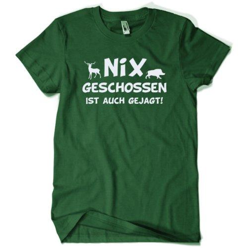 Kostüm Jager - Nix geschossen Schützen T-Shirt Gr. XL dunkelgrün