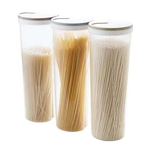 CTlite Spaghettibehälter, 3 Stück Pasta Vorratsdosen Box Multifunktions Spaghetti Behälter Nudelbehälter Snacks Organizer Essstäbchen Halter mit Deckel (Bulk Lebensmittel-lagerung-container)