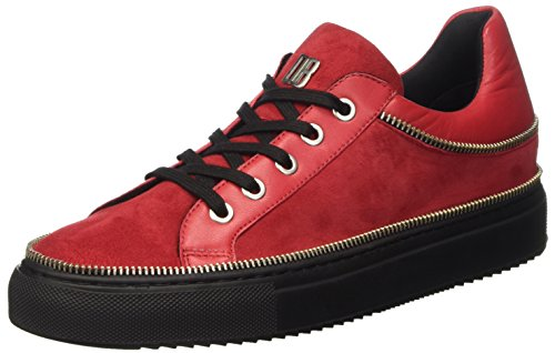 Bikkembergs Doll-er Db 798 Low Shoe Suede/Leather, Pompes à plateforme plate femme Rouge - rouge