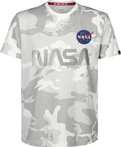 Alpha Industries Herren Oberteile/T-Shirt NASA Reflective Camouflage
