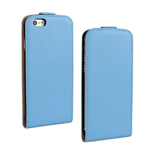 Meimeiwu Genuine Flip Case Custodia Cover Protezione + Free gift stylus Per iPhone 6 6S - Verde Blu