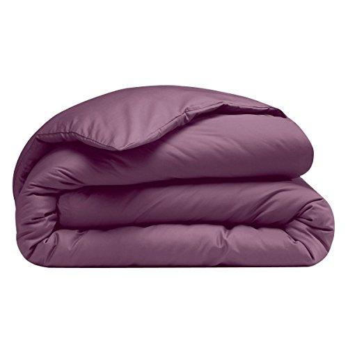 Housse de couette Coton - Polyester Uni Classique 240 x 220 cm Violet