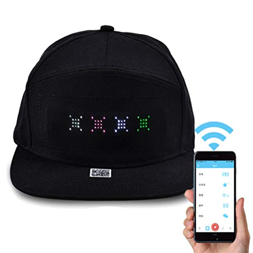 Hip Hop Hüte für Männer Frauen Bluetooth LED Hut Programmierbare Kredit Rolle Nachricht Display Board Baseball Hip Hop Party Golf kappe