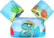Kids Swim Vest life Jackets,Swim Floaties up to 50 Pounds Toddler Swim Vest with Water Wings for Girls and Boy