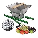 DeTec Obstmühle Bergamo mit 7 Liter Trichter / Beerenmühle / Traubenmühle / Frucht-Mühle / Maischemühle, mit Handkurbel, leicht zu reinigen, Edelstahl