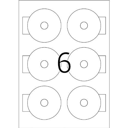 HERMA 8619 Etikett 78mm Mini CD weiss 60St.