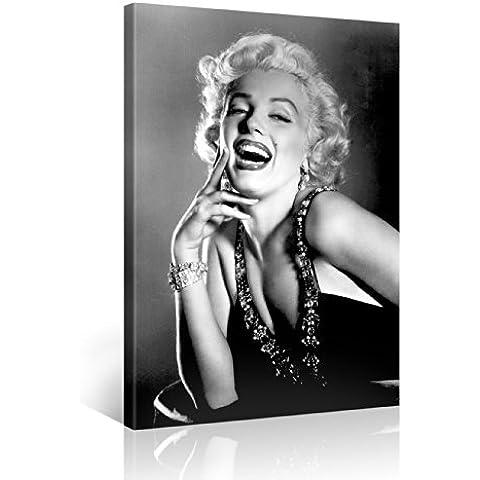 Gallery of Innovative Art – Marilyn – 100x75cm – Larga stampa su tela per decorazione murale – Immagine su tela su telaio in legno – Stampa su tela Giclée – Arazzo decorazione murale