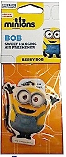 Image of Minions Bob Car Air Freshener Berry Bob Licensed Hanging Despicable Me