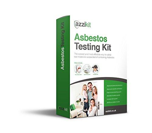 Azzikit- Test-Kit für Asbest, zum Selbermachen-3x Probe-Kits-inklusive zugelassenem Sicherheitsequipment und Laborergebnisse von UKAS,der größte Original-Anbieter im Vereinigtem Königreich -