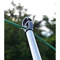 BISEN 1 x corde à linge télescopique de 2,4 m et 2,4 m très résistante et extensible (0,3 x 2,4 m) - Corde à linge…