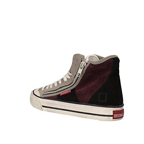 D.A.T.E. , Damen Sneaker Bordeaux/nero/grigio