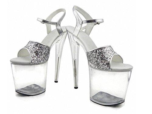 SZXC Nightclub Les Accessoires FéMinins De Performance The Stage Heels / Fashion Simple Sandals / Party / Robe De MariéE Et Talons Hauts Rose Gold 36