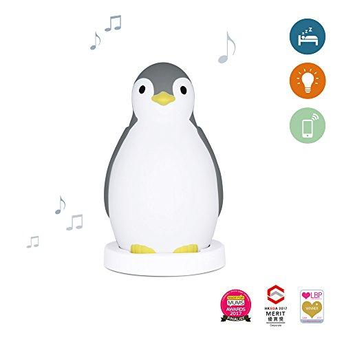 Zazu Kids Pam The Penguin Schlaftrainer und Nachtlicht mit kabellosem Lautsprecher