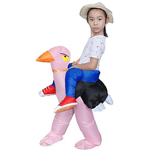 Erwachsene Kinder Vogel Aufblasbares Kostüm Kostüm Karneval Blow Up Maskerade Outfit,B-150-190cm (Vogel Aus Up-kostüm)