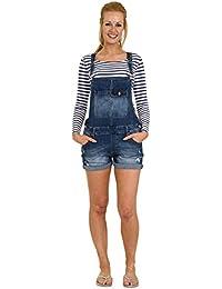 Salopette Short - Stonewash en jean denim shorts pour femme RUTH