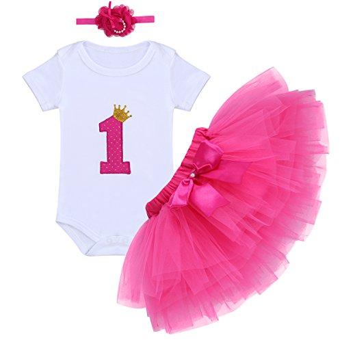 FYMNSI Infantil Bebé Niña 1er Primer Cumpleaños