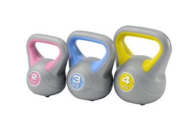 York 2, 3 and 4kg Vinyl Kettlebell Weight Set from York