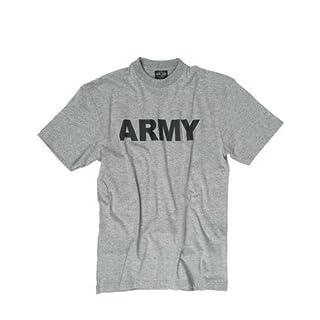 Mil-Tec T-Shirt bedruckt ARMY grau Gr.M