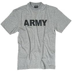 """T-Shirt bedruckt """"ARMY"""" grau Gr.M"""