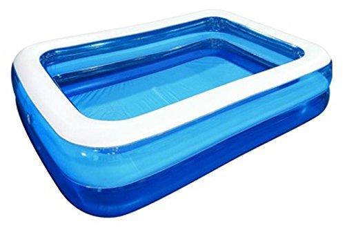 Jilong Pool rechteckig Family Pool 2 Meter x 1,5 Meter x 50cm Riesen Pool aufblasbar