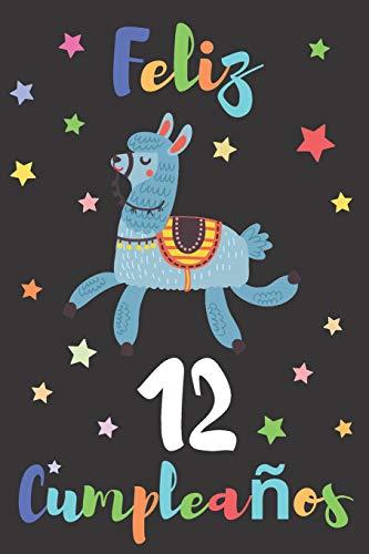 Feliz 12 Cumpleaños: Regalo para Niños o Niñas de 12 Años | Con Espacio para Apuntar y Dibujar | Diario o Agenda