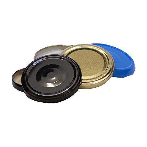 50 Stück X to 70 mm Gold Schraubdeckel für Gläser • Twist Off Deckel Verschluss Ø 70mm • Ersatzdeckel To70 • 25,50,100,150,200,250,500 Stück • Große Auswahl Verschiedene Größen und Farben
