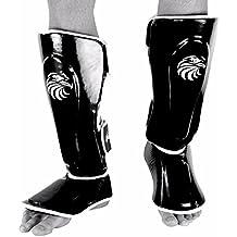 Vantage Shinguards Combat Hybrid Black.Schienbeinschutz Muay Thai,Kickboxen MMA