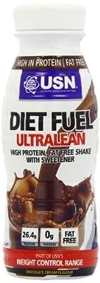 USN Ultralean Diet Fuel Shake, - Pack of 8 x 330 ml