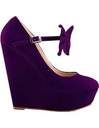 Gant Desi purple canvas/suede 46.16005Q572 - Náuticos de lona para mujer, color morado, talla 41